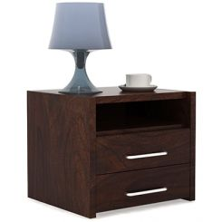 Parish Bed Side Table (Walnut Finish)