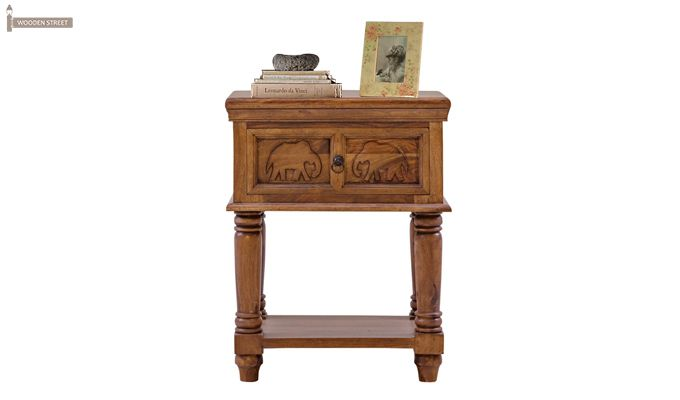 Roche Bedside Table (Teak Finish)-1