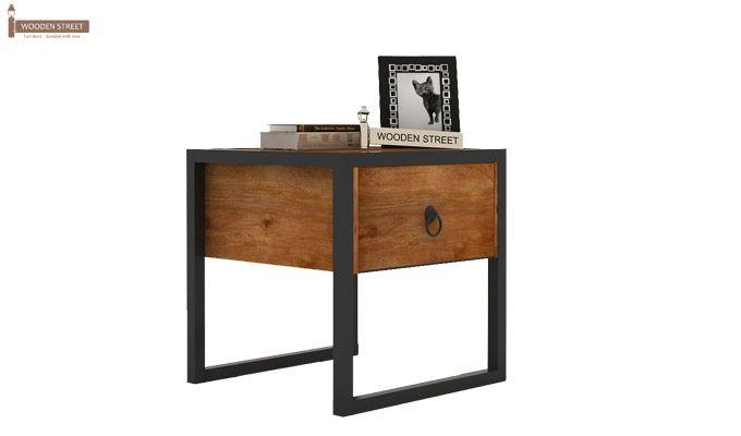 Samboy Loft Bedside table (Teak Finish)-2