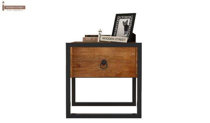 Samboy Loft Bedside Table (Teak Finish)-3