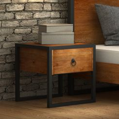 Samboy Loft Bedside table (Teak Finish)