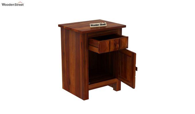 Sophia Bedside Table (Honey Finish)-4
