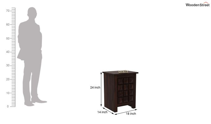 Sophia Bedside Table (Walnut Finish)-6