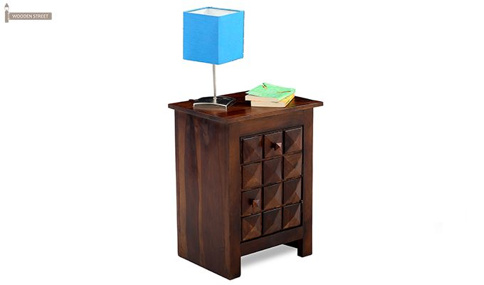 Sophia Bedside Table (Teak Finish)-1