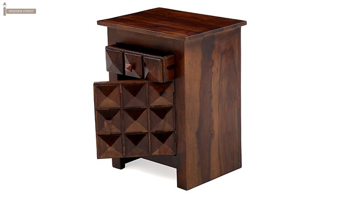 Sophia Bedside Table (Teak Finish)-10