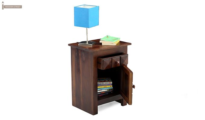 Sophia Bedside Table (Teak Finish)-2