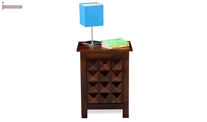 Sophia Bedside Table (Teak Finish)-3