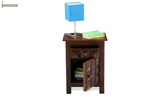 Sophia Bedside Table (Teak Finish)-4