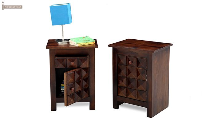 Sophia Bedside Table (Teak Finish)-5