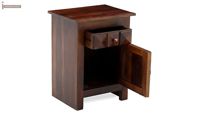 Sophia Bedside Table (Teak Finish)-9