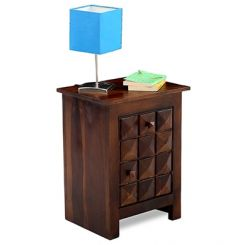 Sophia Bedside Table (Teak Finish)