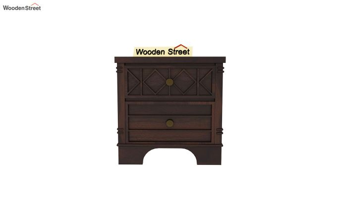 Swirl Bedside Table (Walnut Finish)-3