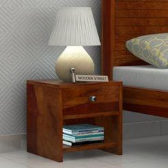 Tesla Bedside Table (Honey Finish)