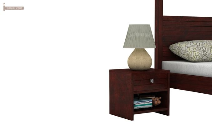 Tesla Bedside Table (Mahogany Finish)-3