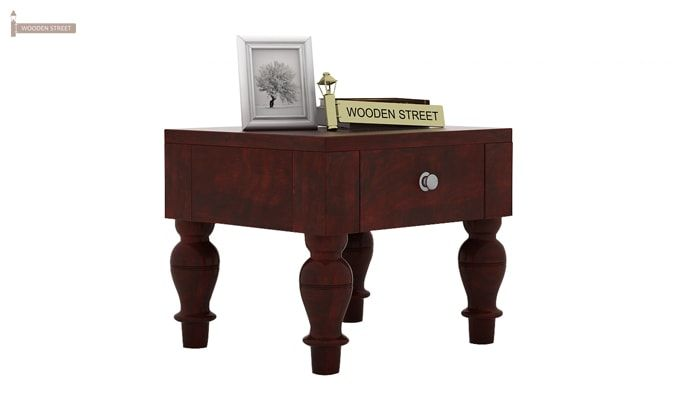 Trae Bedside Table (Mahogany Finish)-1
