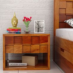 Travis Bedside Table (Honey Finish)