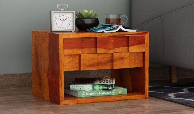 Travis Bedside Table (Honey Finish)-1
