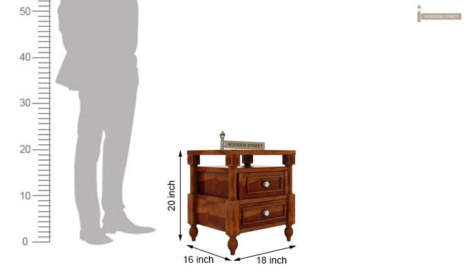 Ventur Bedside Table (Honey Finish)-4
