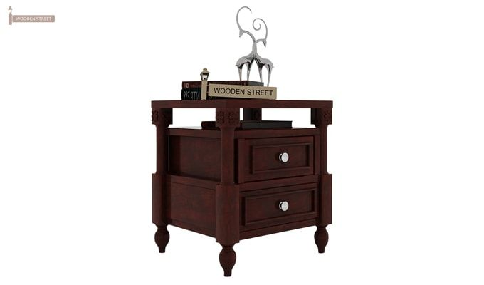 Ventur Bedside Table (Mahogany Finish)-2