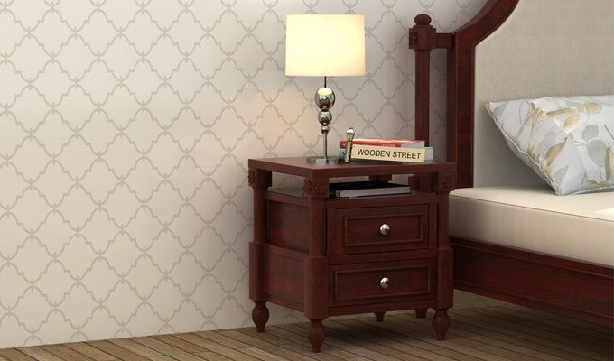 Ventur Bedside Table (Mahogany Finish)-1