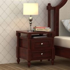 Ventur Bedside Table (Mahogany Finish)