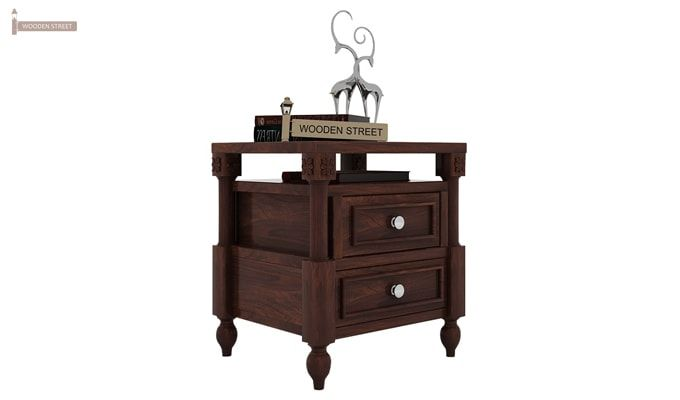 Ventur Bedside Table (Walnut Finish)-1