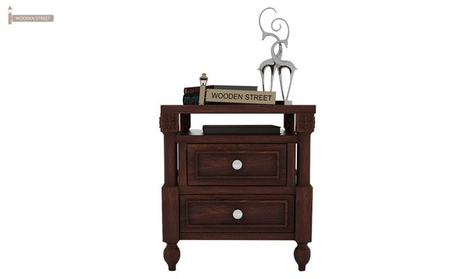 Ventur Bedside Table (Walnut Finish)-2