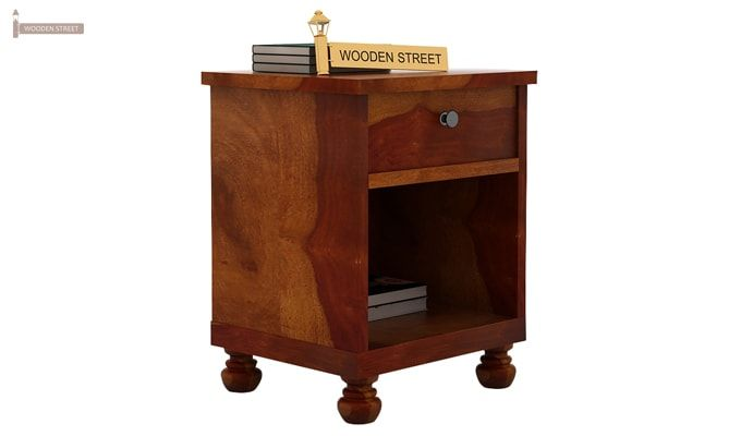 Volgan Bedside Table (Honey Finish)-1