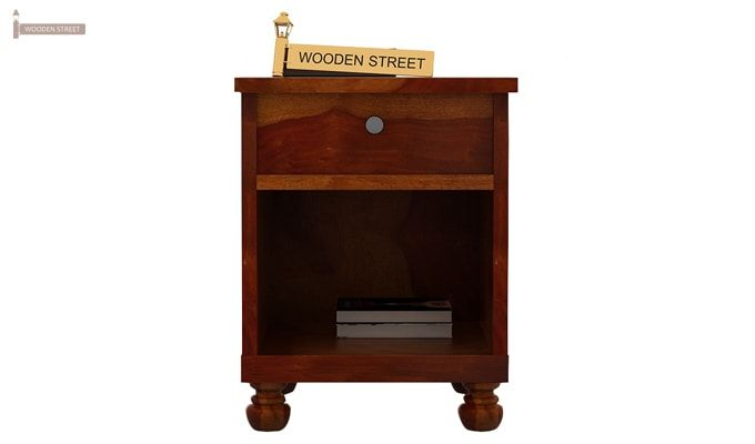Volgan Bedside Table (Honey Finish)-2