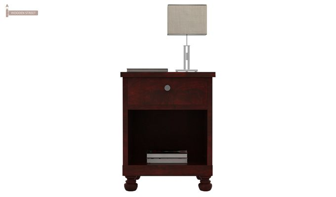 Volgan Bedside Table (Mahogany Finish)-3