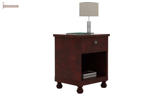 Volgan Bedside Table (Mahogany Finish)-4