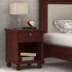 Volgan Bedside Table (Mahogany Finish)