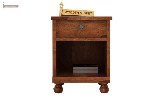 Volgan Bedside Table (Teak Finish)-2