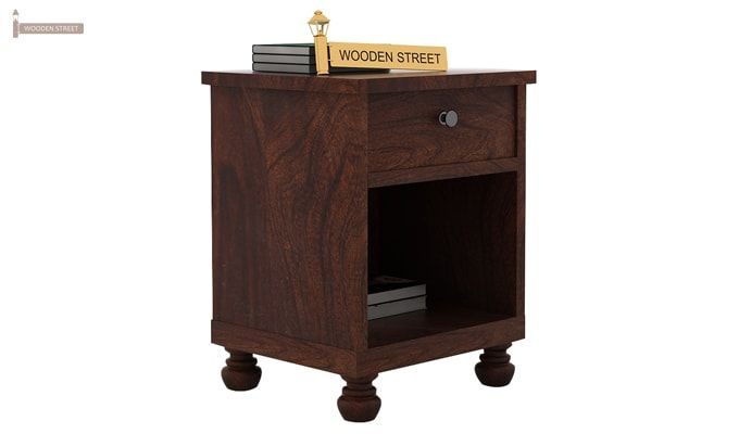 Volgan Bedside Table (Walnut Finish)-1