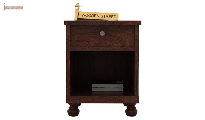 Volgan Bedside Table (Walnut Finish)-2