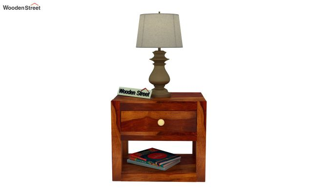 Walken Bedside Table (Honey Finish)-3