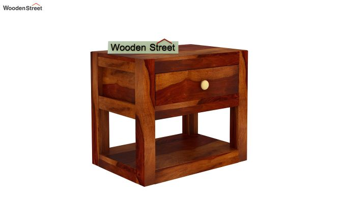 Walken Bedside Table (Honey Finish)-4