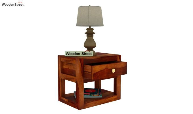 Walken Bedside Table (Honey Finish)-5