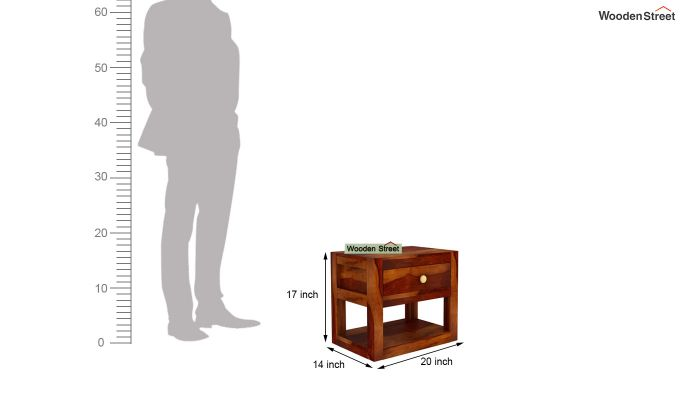 Walken Bedside Table (Honey Finish)-6