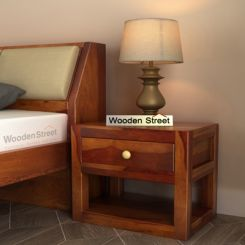 Walken Bedside Table (Honey Finish)