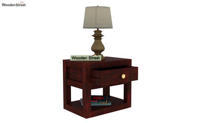 Walken Bedside Table (Mahogany Finish)-5