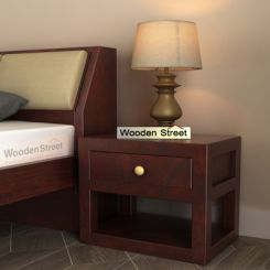 Walken Bedside Table (Mahogany Finish)