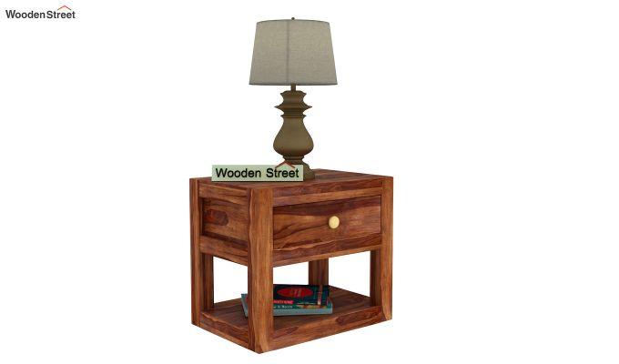 Walken Bedside Table (Teak Finish)-2