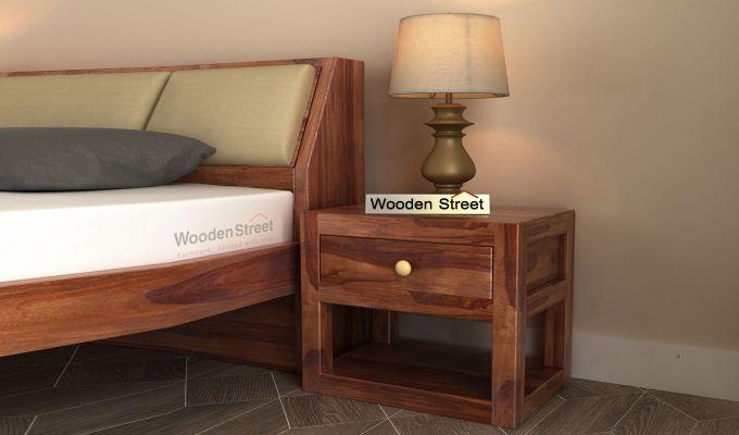 Walken Bedside Table (Teak Finish)-1