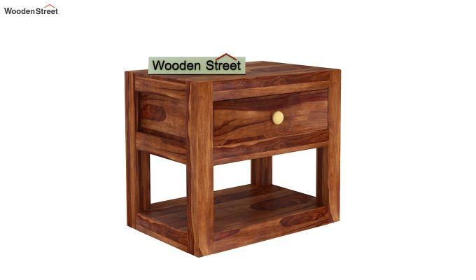 Walken Bedside Table (Teak Finish)-4