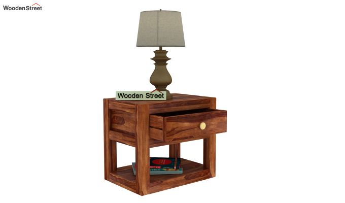 Walken Bedside Table (Teak Finish)-5