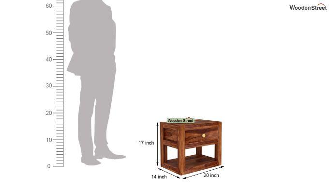 Walken Bedside Table (Teak Finish)-6