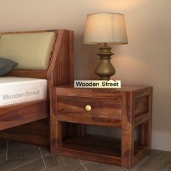 Walken Bedside Table (Teak Finish)
