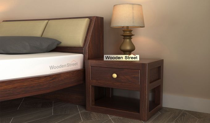Walken Bedside Table (Walnut Finish)-1