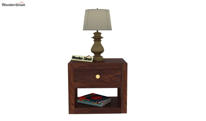 Walken Bedside Table (Walnut Finish)-3